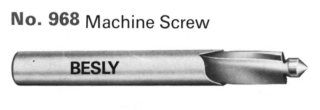 Besly Counterbores for Socket Head Cap Screws