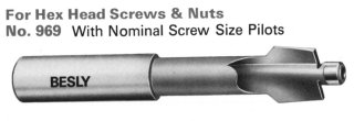 Besly Counterbores for Hex Nut Screws & Nuts